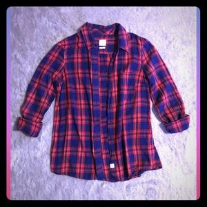 Women's GAP Flannel Plaid Shirt